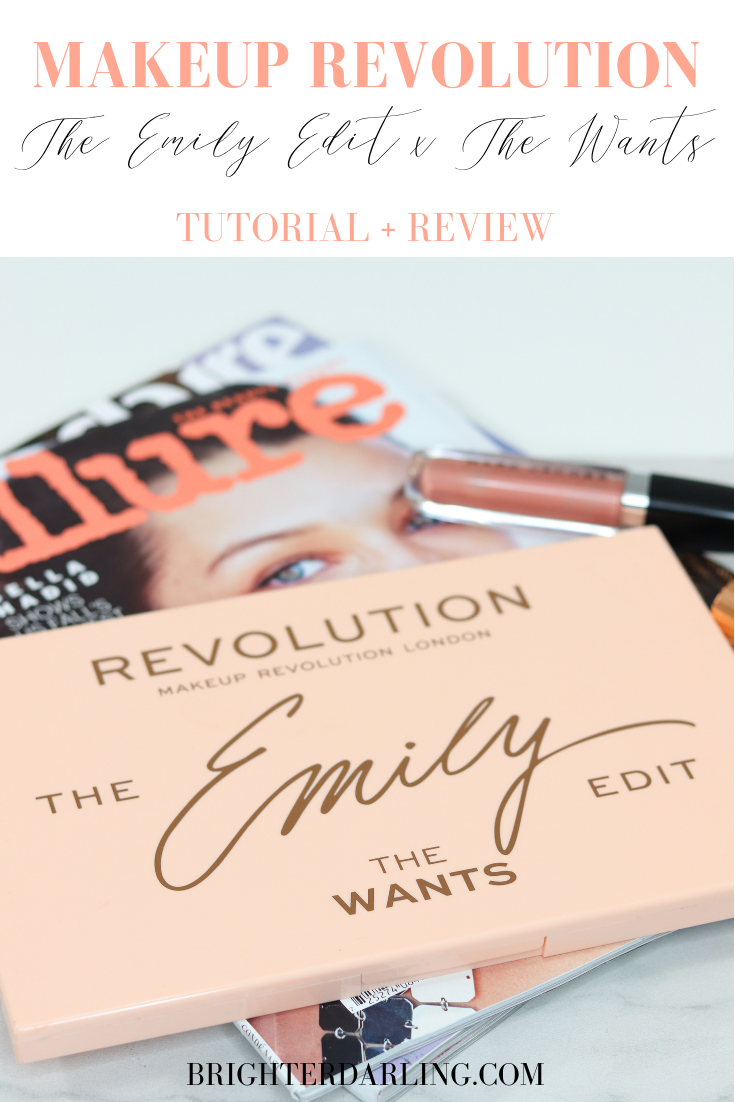 MAKEUP REVOLUTION THE EMILY EDIT THE WANTS PALETTE TUTORIAL AND REVIEW _ GREEN EYE MAKEUP TUTORIAL _MAKEUP FOR BROWN EYES