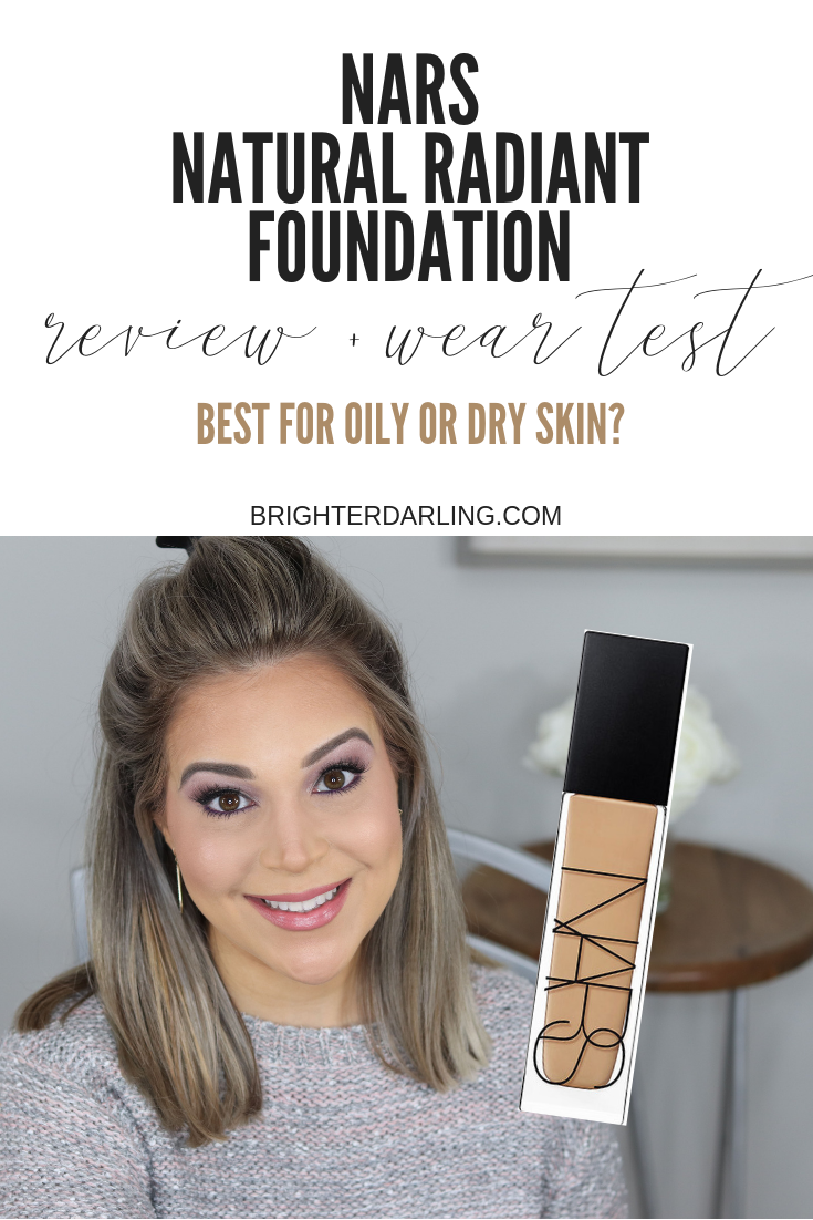 NARS NATURAL RADIANT LONGWEAR FOUNDATION WEAR TEST AND REVIEW
