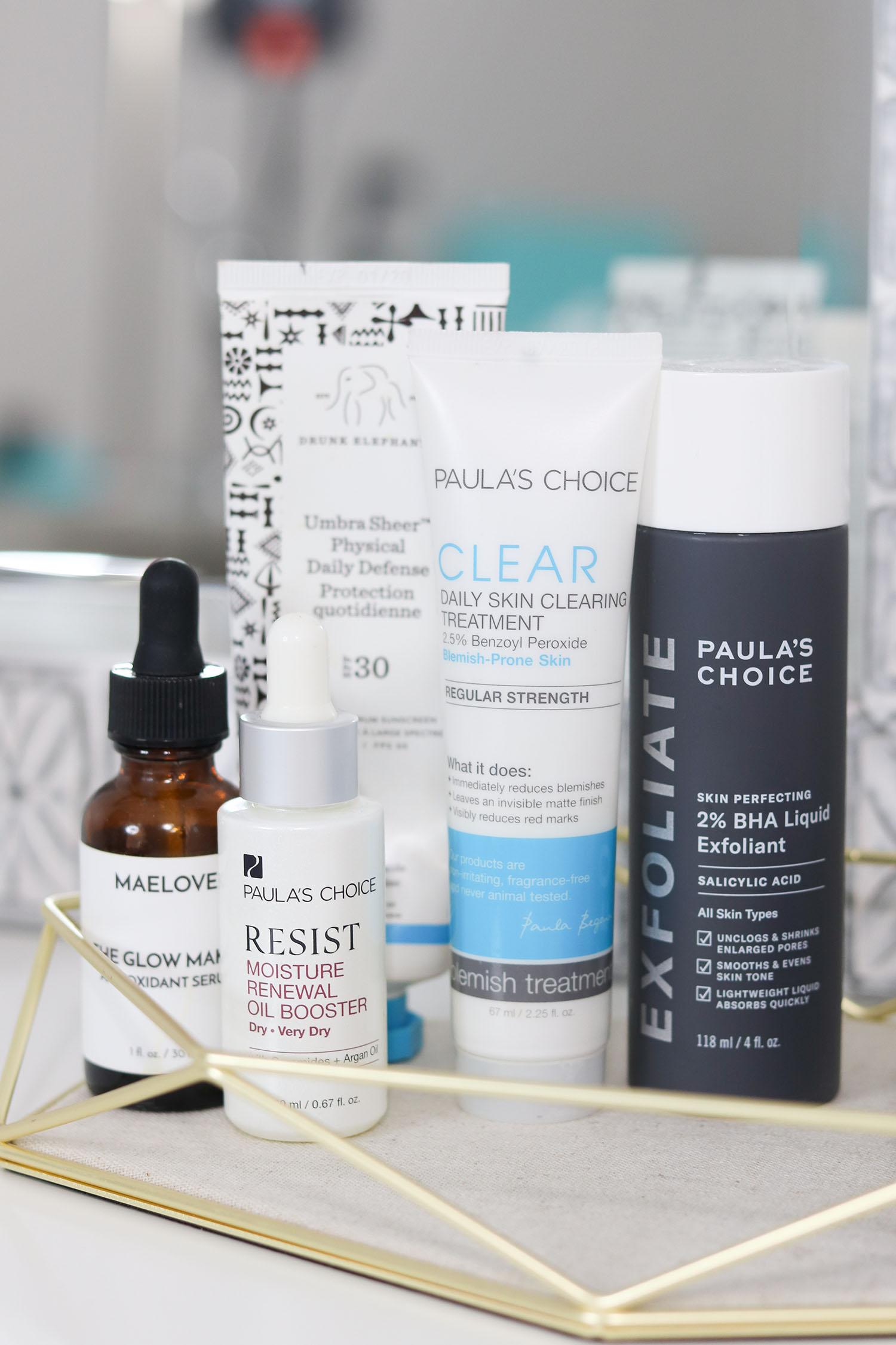 How I Clear My Skin When I'm Having a Breakout | Paula's Choice 2% BHA Liquid Exfoliant, Paula's Choice Skin Clearing Treatment, Paula's Choice Moisture Renewal Oil