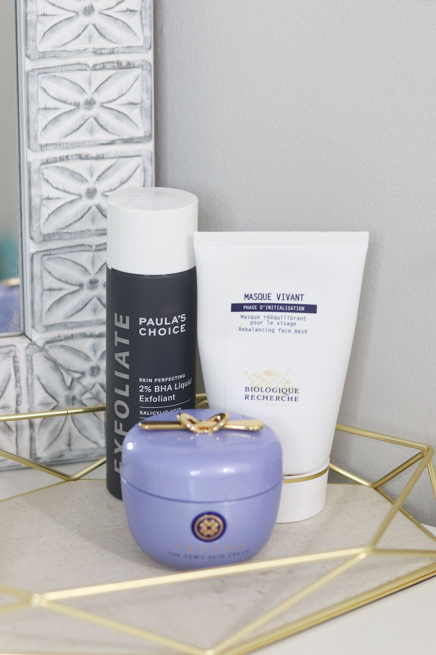 How I Clear My Skin When I'm Having a Breakout | Biologique Recherche Masque Vivant Skin Balancing Mask, Tatcha Dewy Skin Cream