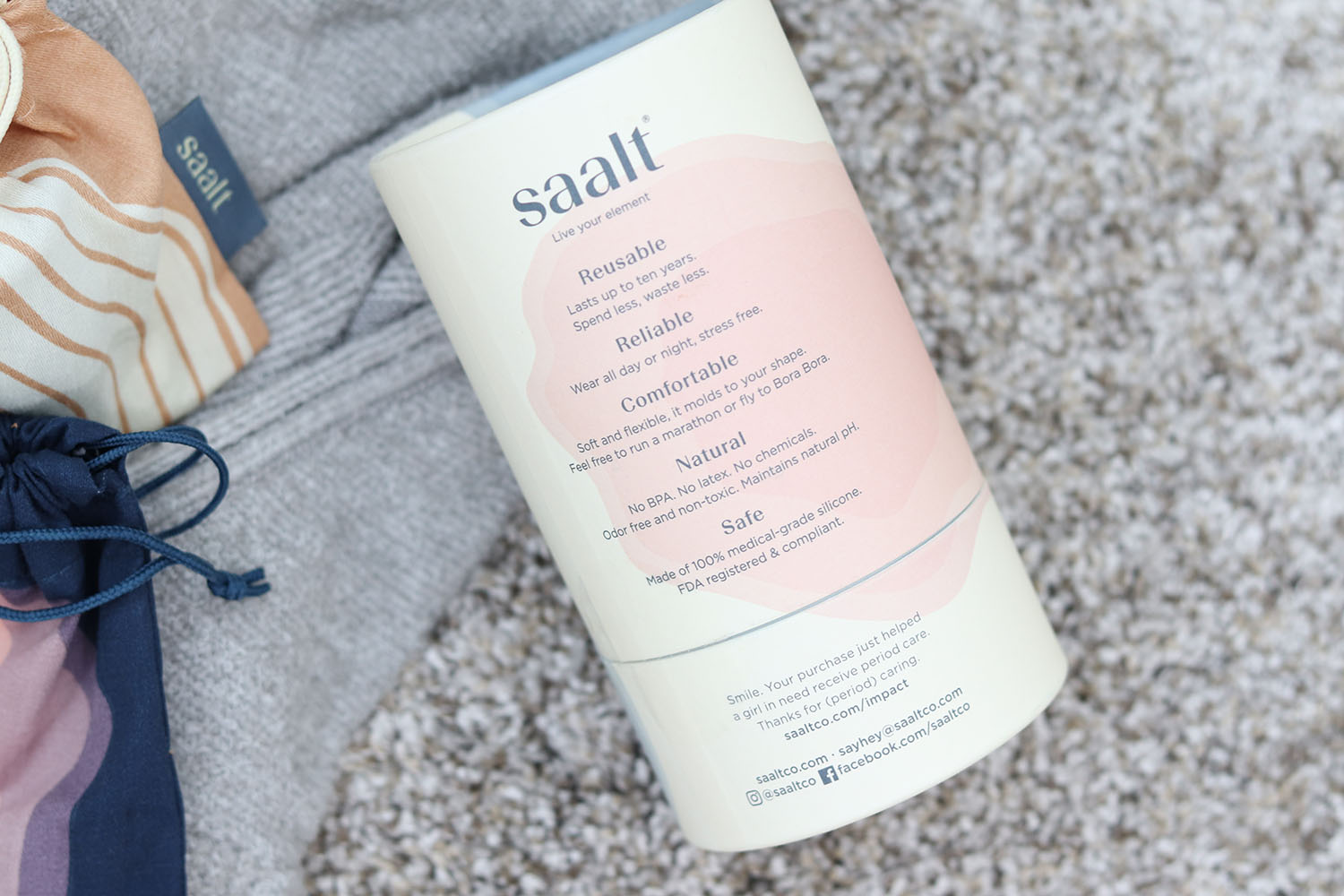 Saalt Soft Cup Review | My Experience Using the Saalt Soft Menstrual Cup | Brighter Darling Blog