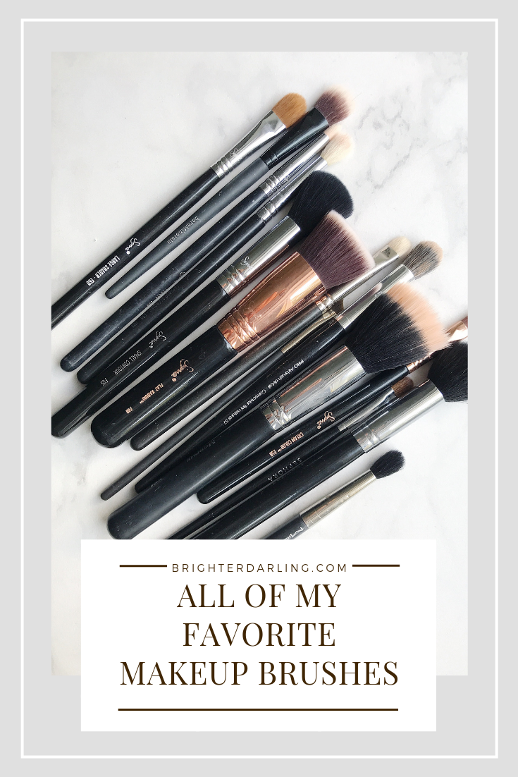 ALL OF MY FAVORITE MAKEUP BRUSHES BRIGHTER DARLING   Favorite Sigma Makeup Brushes   Favorite Makeup Brushes for Semi Hooded Eyes