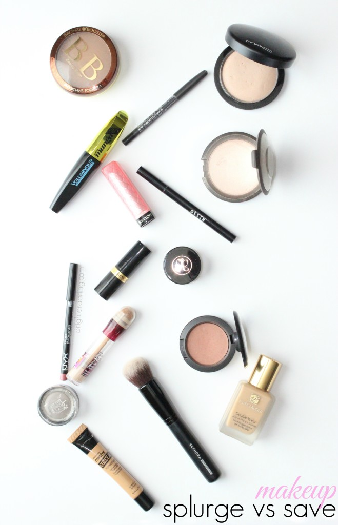 Splurge vs Save Makeup | Brighterdarling.com