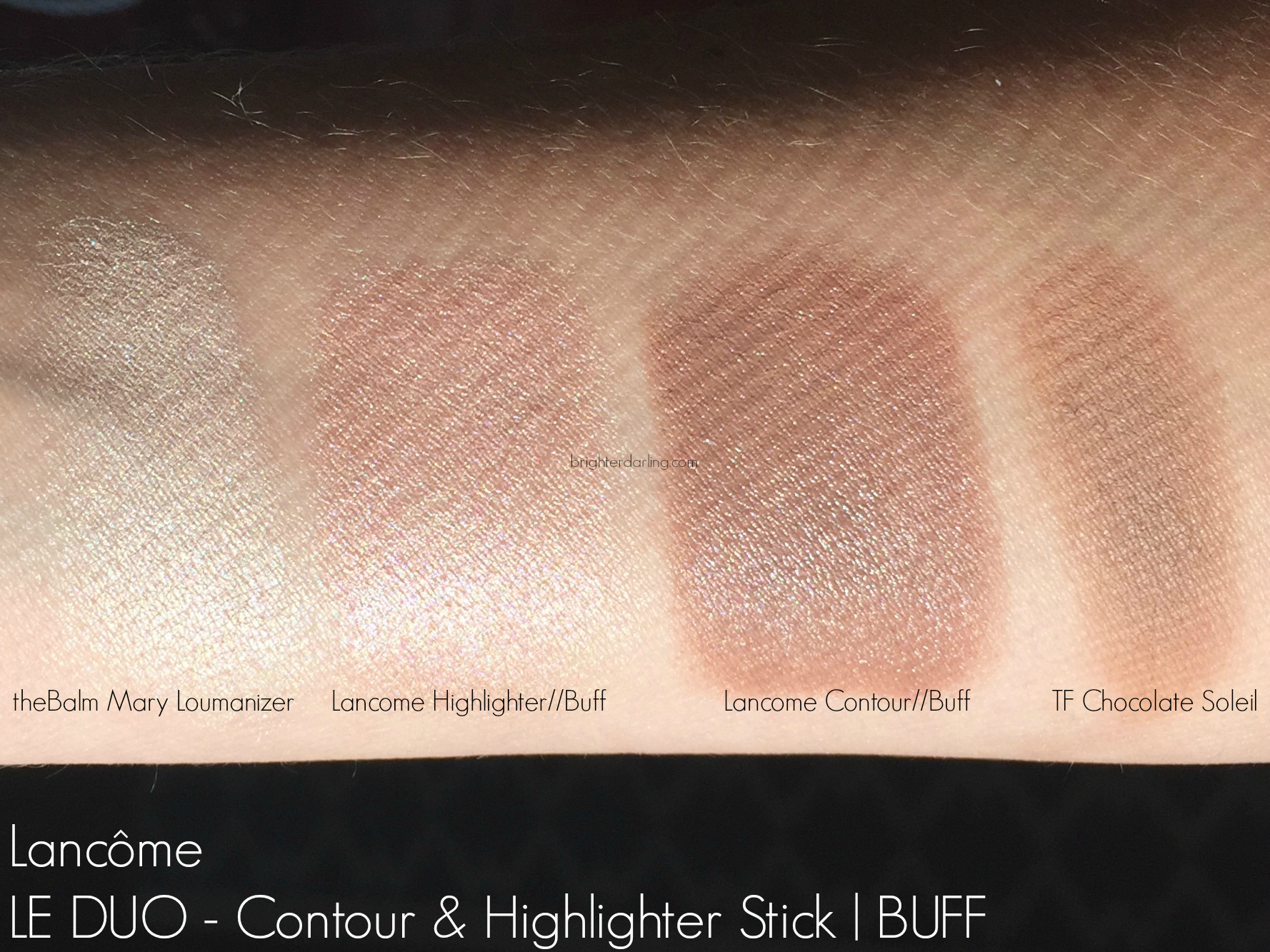 Lancome Le Duo Contour Highlighter Buff Swatches 2