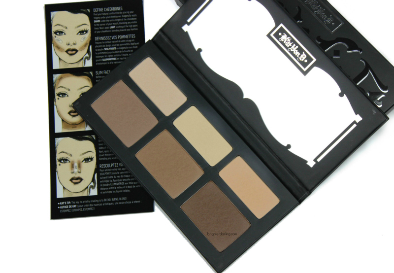 Contour and highlight in under two minutes using Kat Von D Shade Light Contour Palette for flawless skin and to look thinner in pictures