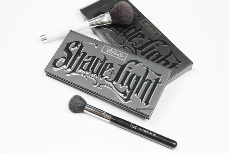 A tutorial showing how to use Kat Von D Shade Light Contour Palette to sculpt the face and look slimmer in photos