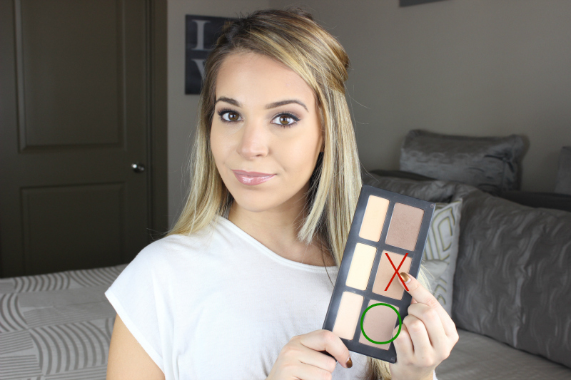 Apply the lightest contour shade from the Kat Von D Shade Light Contour Palette