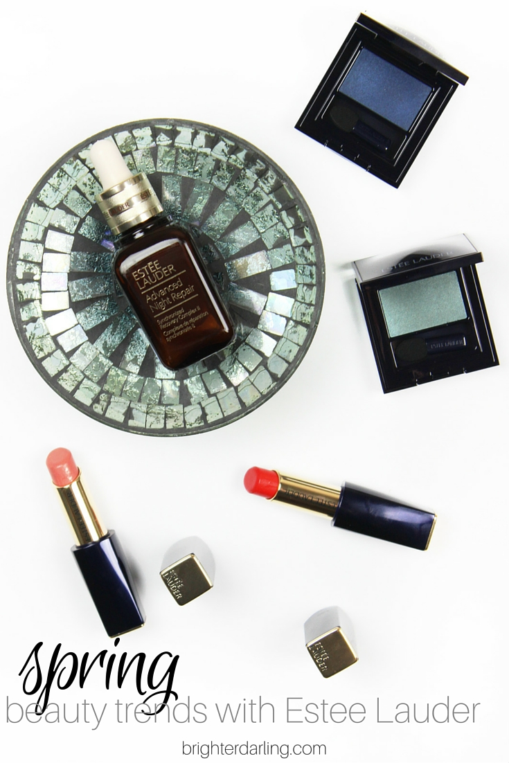 3 Spring Beauty Trends as told by Estee Lauder Pro Makeup Artist on brighterdarling.com