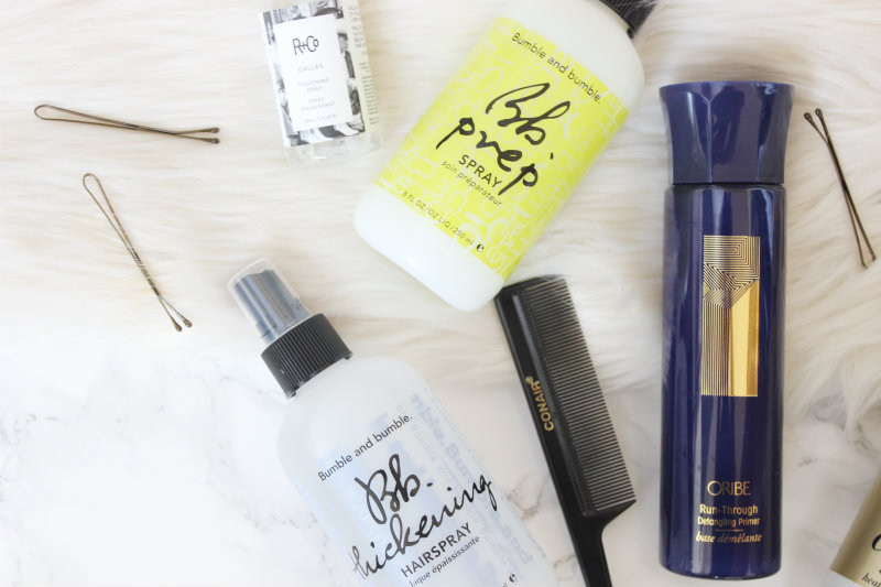 bumble and bumble prep and thickening hairspray on brighterdarling.com new hair products haul