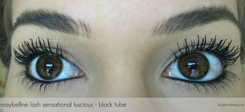 maybelline lash sensational luscious on lashes