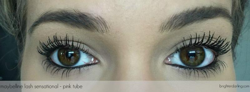 maybelline lash sensational on lashes