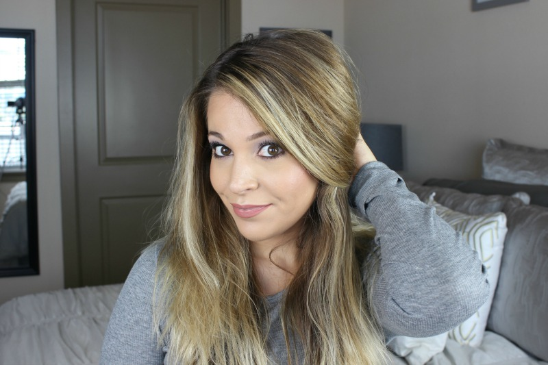 beachy waves tutorial featuring garnier whole blends refreshing hair care line on brighterdarling.com