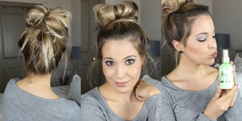 Messy Bun Hair Tutorial on brighterdarling.com