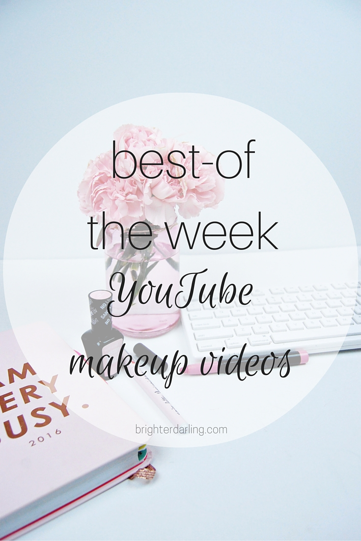 A round up of my top 3 favorite YouTube makeup and beauty videos of the week - this week features Jentry Kelley Cosmetics, Sam Schuerman and EmilyNoel83 of Beauty Broadcast
