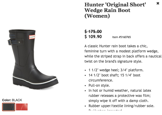 Hunter Short Boot $175 for $109.90 #NSale
