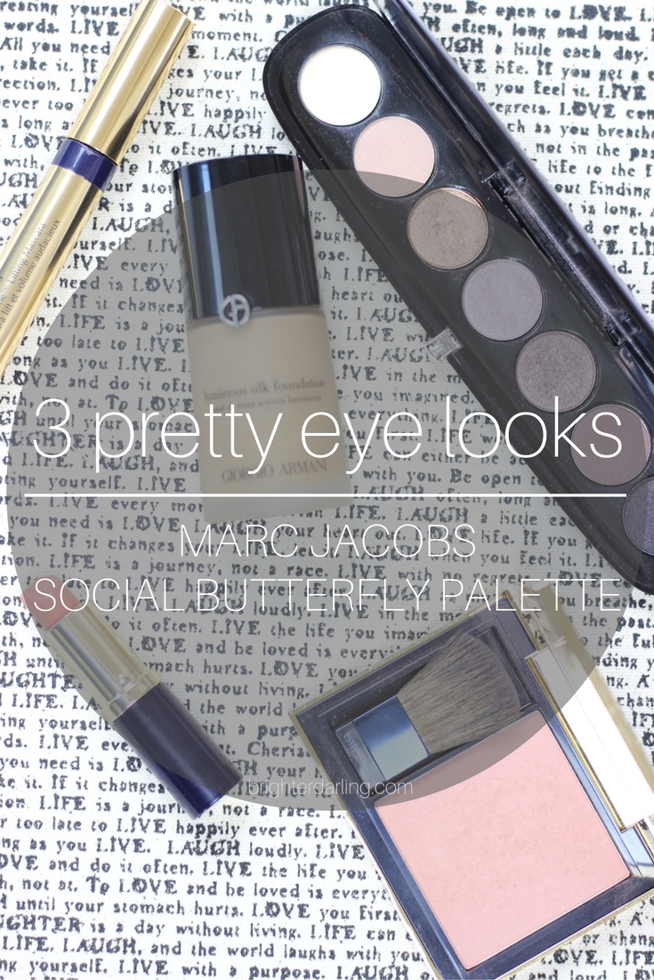 3 Eye Makeup Looks Using Marc Jacobs Social Butterfly Eyeshadow Palette on brighterdarling.com. #BrighterDarling