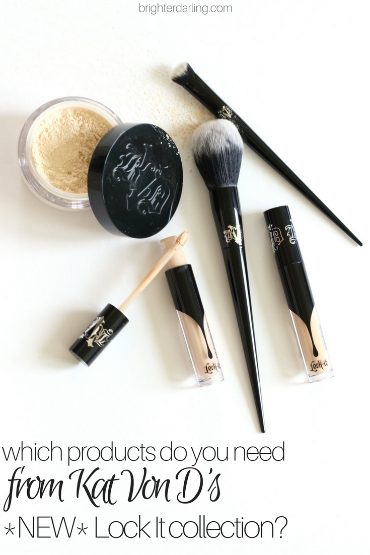 Which products are worth the hype from the new Kat Von D Lock It Collection? Kat Von D Lock It Concealer Creme, Setting Powder, Edge Concealer Brush and Setting Brush Review