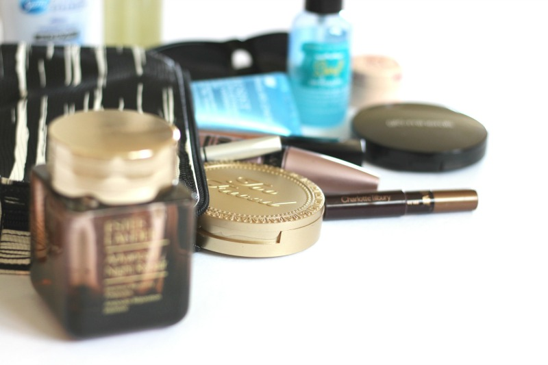 beach vacation beauty essentials   Estee Lauder Advanced Night Repair Intensive Recovery Ampoules, TooFaced Chocolate Soleil Bronzer, Charlotte Tilbury Color Chameleon in Amber Haze, Bumble and Bumble Surf Infusion Spray and more on brighterdarling.com