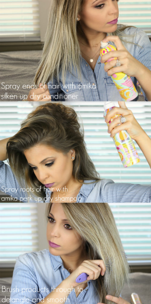 Flat Iron Curling Tutorial For Long Hair | How To Curl Long Hair Using amika Dry Shampoo and amika Dry Conditioner