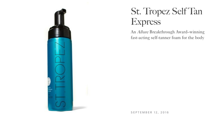 Allure Best of Beauty St Tropez Express Self Tanner