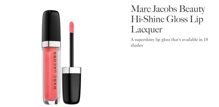 Marc Jacobs Hi Shine Lip Lacquer | Allure Best of Beauty