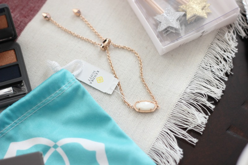 November 2016 POPSUGAR Must Have Box Review | Kendra Scott Elaina Bracelet In Rose Gold with White Pearl Stone