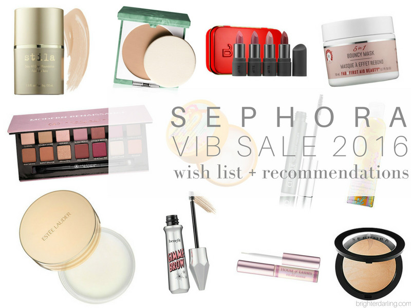 Sephora VIB Sale Wish List and Recommendations Nov. 2016