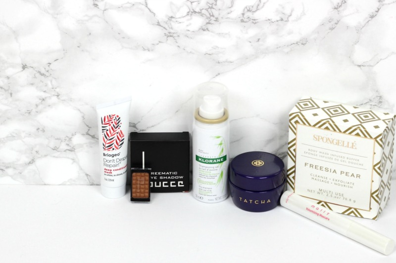 Allure Beauty Box October 2016 Review | Final Allure Beauty Box Subscription Thoughts | Briogeo Don't Despair Repar Deep Conditioning Mask, Klorane Dry Shampoo, Tatcha Indigo Body Butter, Mally Volumizing Mascara, Spongelle