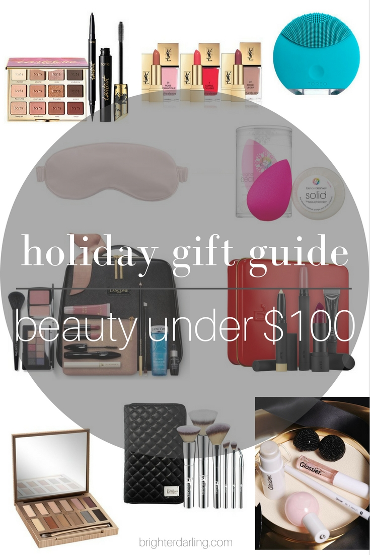 Holiday Gift Guide | Beauty Gifts Under $100 from Tarte, Slip, Beauty Blender, Urban Decay, Lancome, Bite, IT Cosmetics, Glossier Black Tie Set and Foreo