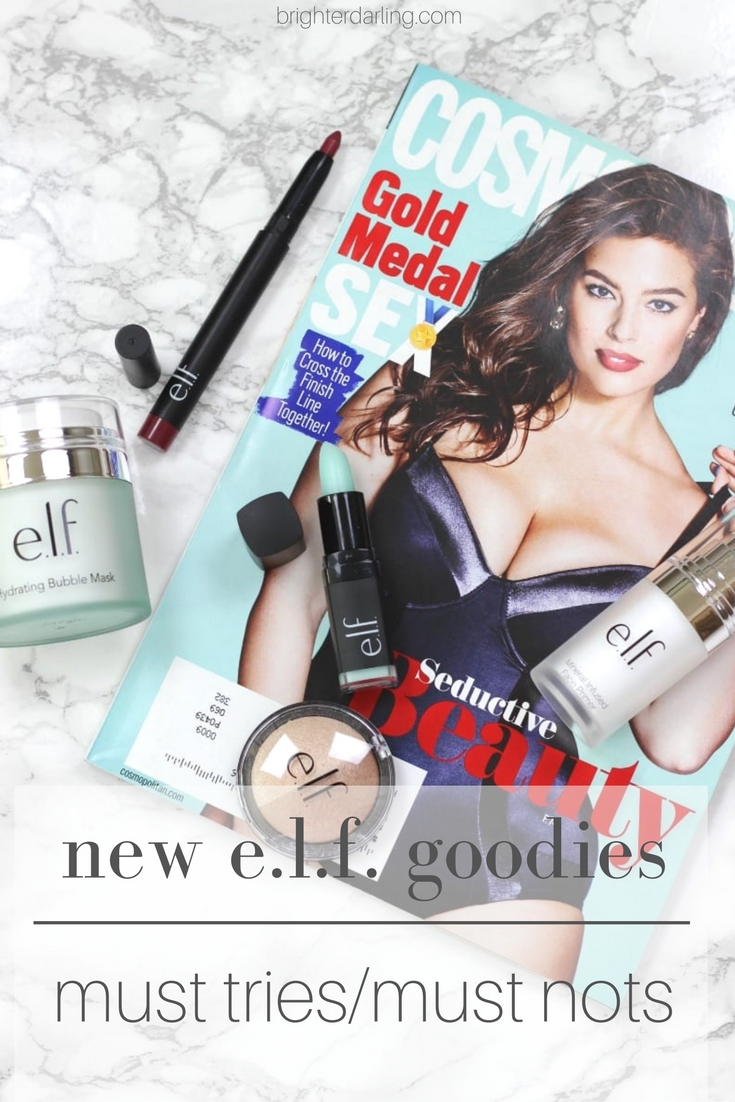 new e.l.f. goodies from my Influenster VoxBox | Elf Hydrating Bubble Mask, Mineral Infused Primer, Lip Exfoliator, Matte Lip Color, Baked Highlighter and Bronzer duo at Walmart or Target