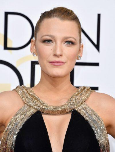 Blake Lively Golden Globes 2017 Makeup
