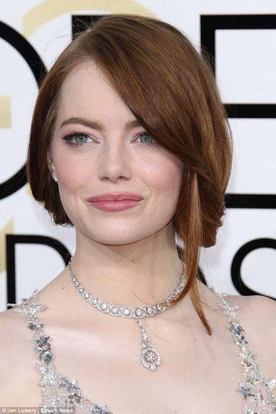 Emma Stone Golden Globes 2017 makeup