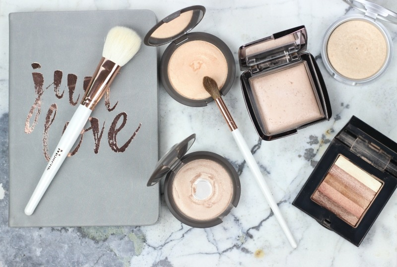 Which powder highlighter should you try? | Becca Champagne Pop, Becca Opal, theBalm Mary Lou-Manizer, Hourglass Luminous Light, Bobbi Brown Shimmer Brick