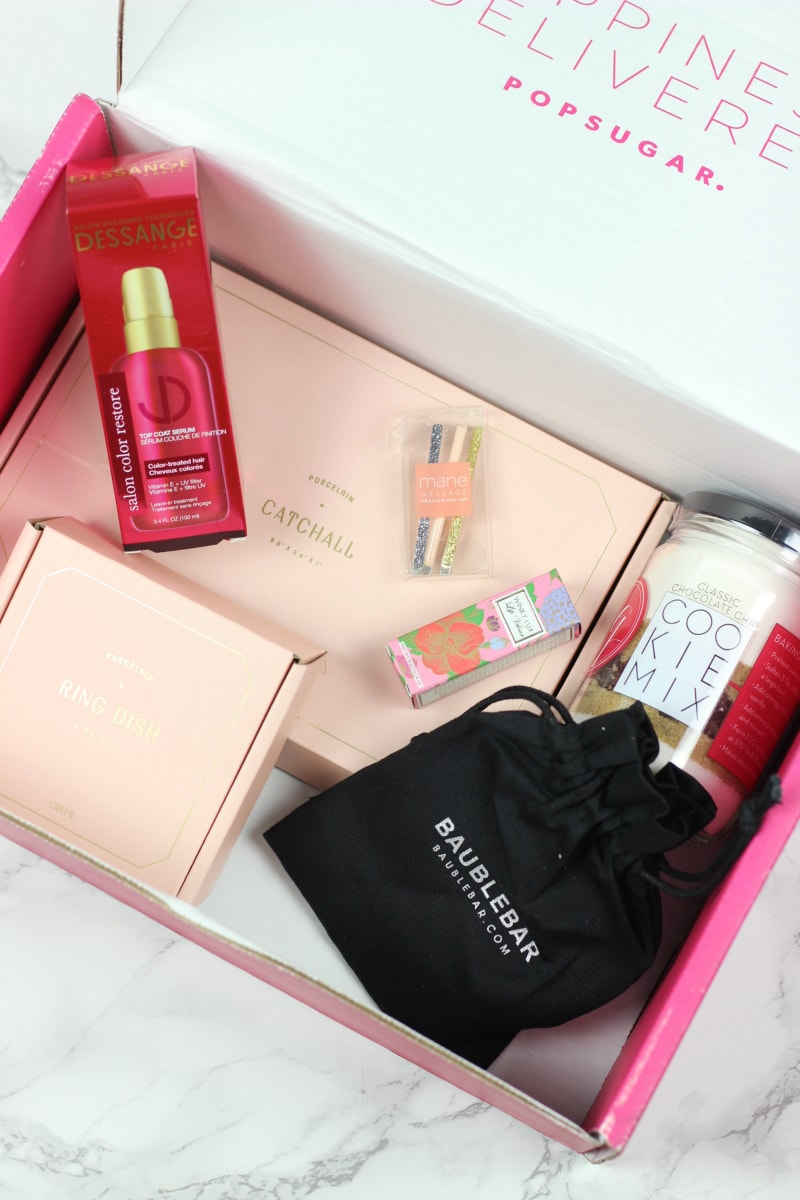 December 2016 PopSugar Must Have Box review and unboxing | Featuring products from Odeme, BaubleBar, Mane Message, WinkyLux, Sisters' Gourmet cookies and Dessange.
