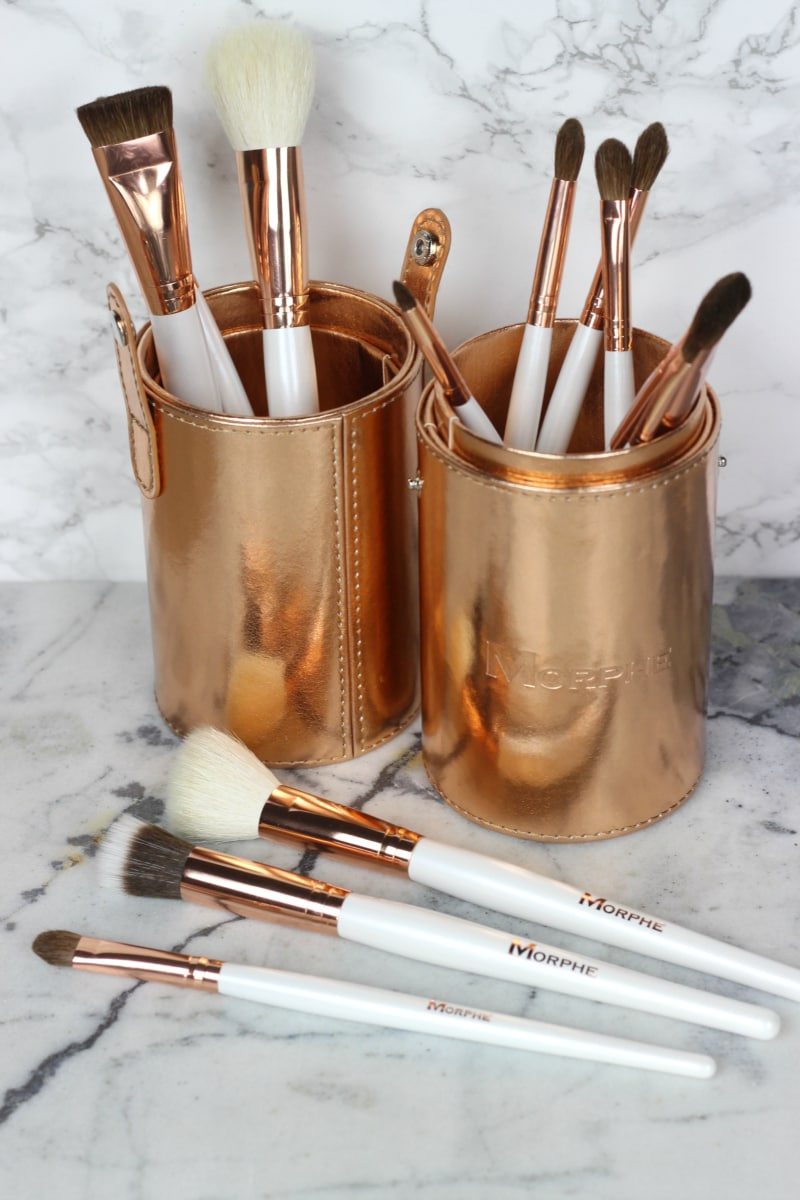 Morphe copper dreams makeup brush set