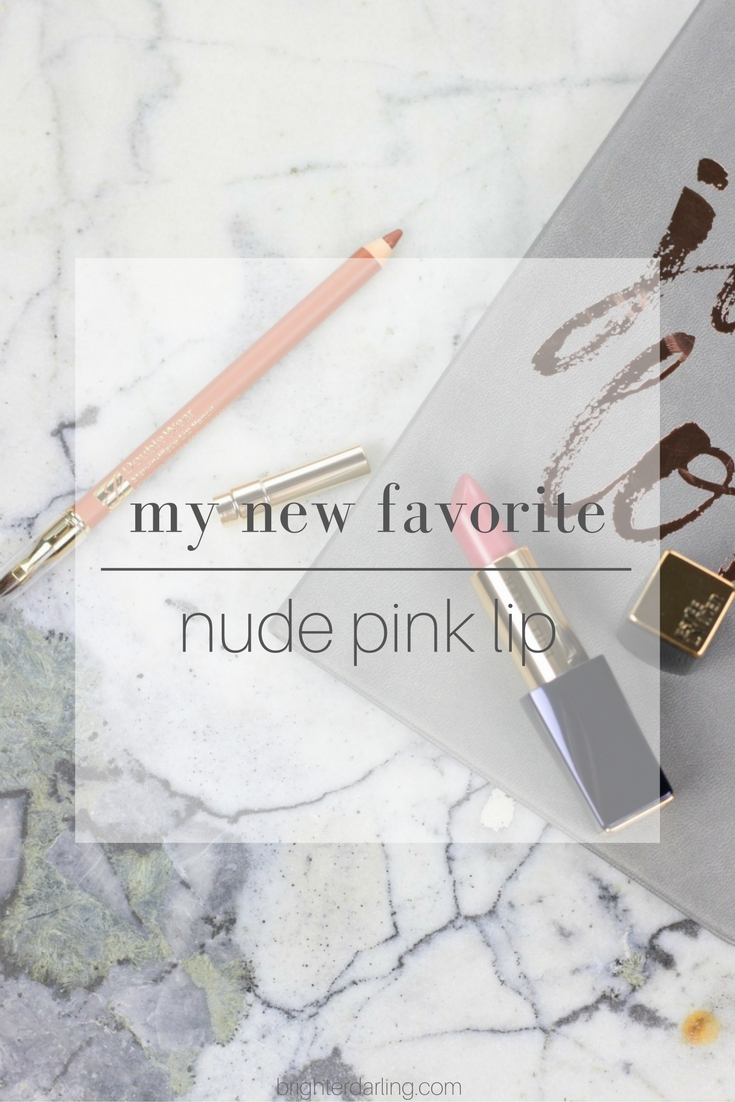 My New Favorite Nude Pink Lip Combination | Estee Lauder Sweet Sinner Swatch with Estee Lauder Double Wear Lip Liner in Nude with Swatches | Beauty Blogger