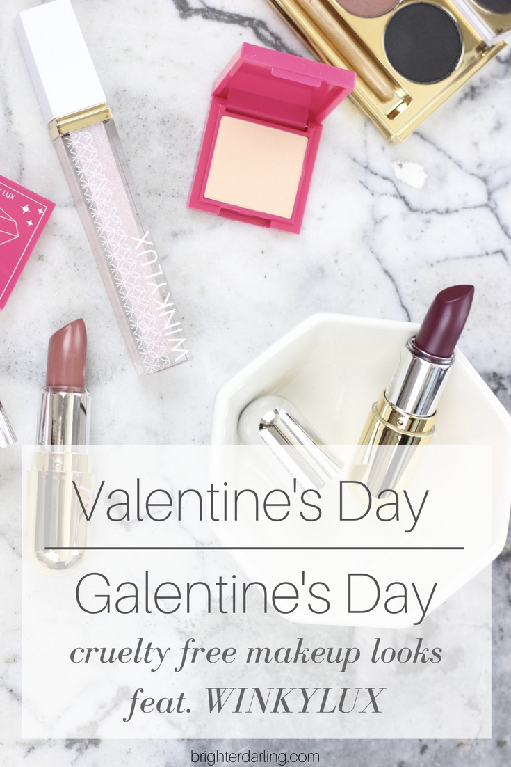 Cruelty Free Makeup Looks for Valentine's Day or Galentine's Day | Two Valentine's Day Makeup Looks using Winky Lux Makeup