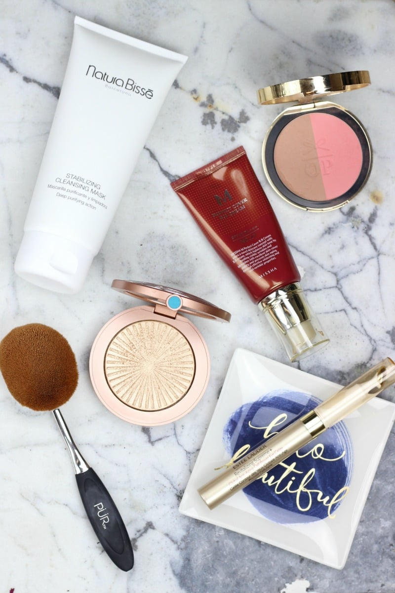 6 New Beauty Products I'm Loving Lately   Natura Bisse Stabilizing Cleansing Masque, Missha M Perfect Cover BB Cream, Pur Cosmetics Skin Perfecting Foundation Brush, Estee Lauder Heatwave, Estee Lauder Revitalizing Supreme Eye Gelee