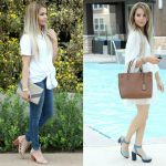 Two Casual Spring Outfits ft. Marc Fisher Lace Up Sandal Heels