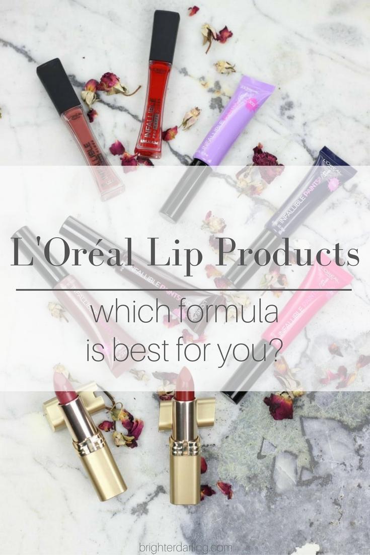 L'Oréal Lip Color | L'Oréal Infallible Lip Paints | L'Oréal Lipstick at the drugstore