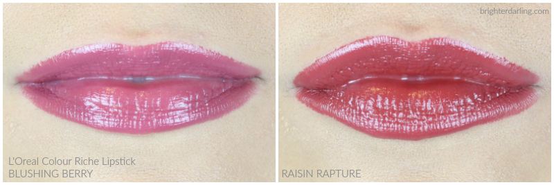 L'Oréal Colour Riche in Blushing Berry and Raisin Rapture