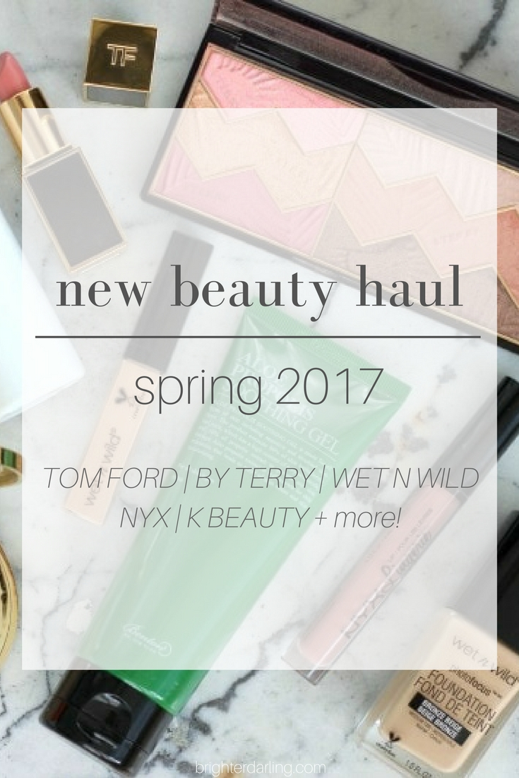 New Makeup Items Spring 2017 - Tom Ford Eyeshadow Nude Dip - By Terry Savannah Love - Tom Ford Spanish Pink - K Beauty - Benton Aloe Propolis Gel - COSRX A Sol and more