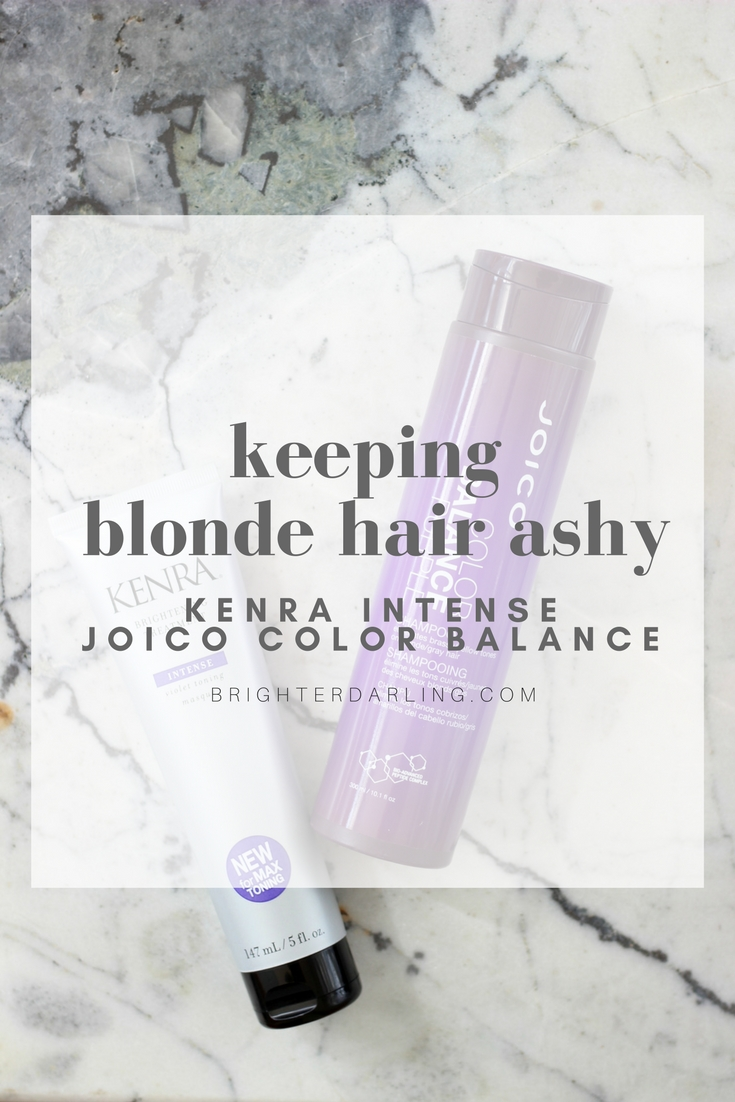 KEEPING BLONDE HAIR ASHY using Kenra Intense Treatment and Joico Color Balance Shampoo - How To Keep Blonde Hair Ashy