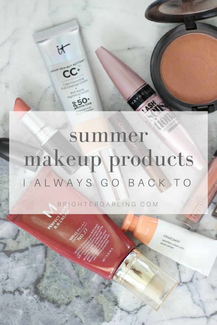summer makeup products I always go back to | beauty blogger | summer makeup | summer beauty