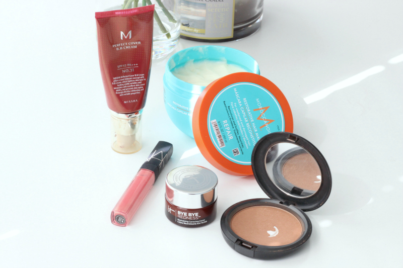 August 2017 Beauty Favorites Brighter Darling | Missha Perfect Cover BB Cream Moroccanoil Restorative Mask MAC Refined Golden NARS Orgasm Gloss IT Cosmetics Bye Bye Redness