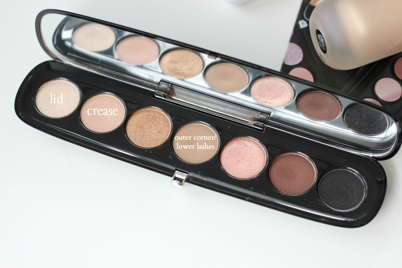 Marc Jacobs Glambition Eyeshadow Palette Review Look 1 Soft and Light