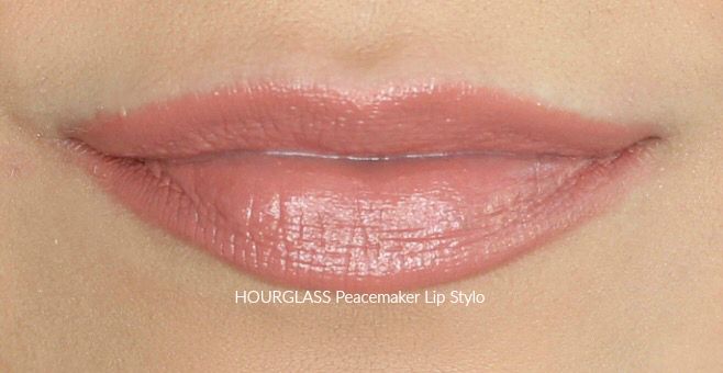 Hourglass Peacemaker Lip Stylo Swatch on Medium Skin