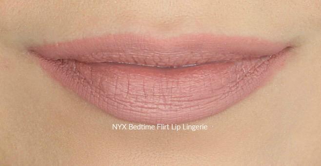 NYX Bedtime Flirt Lip Lingerie Swatch on Medium Skin