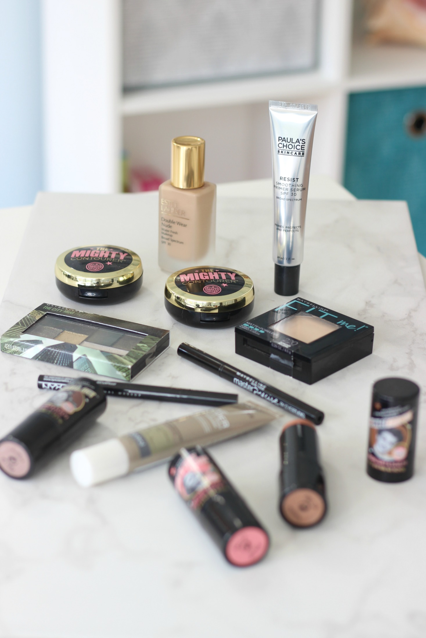 new beauty products i'm currently testing | Estee Lauder Double Wear Nude Water Fresh, NYX Epic Ink Liner, Maybelline Master Precise Eye Liner, Paula's Choice Smoothing Primer, Paula's Choice Shine Stopper, Maybelline City Mini Palette Urban Jungle