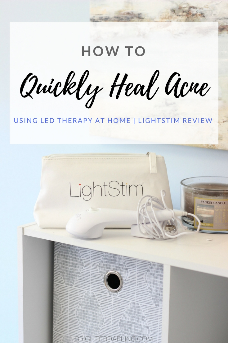 Quickly Heal Acne At Home Using LED Therapy Lightstim for Acne Review